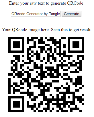 Generate QR code in codeigniter